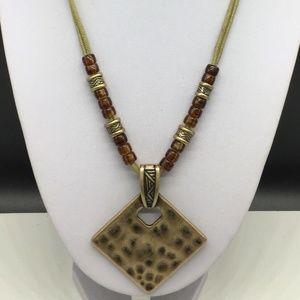 Premier Designs Gold Tone Pendant Necklace